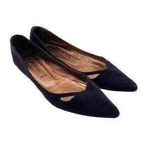Sigerson Morrison Purple Suede Pointed Toe Flats